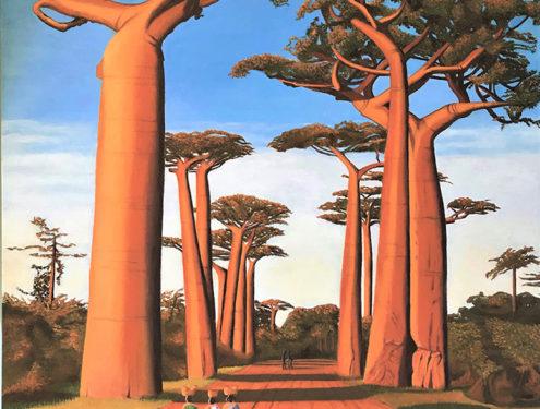"""""""Baobab Avenue"""" 122 x 92 cm"""