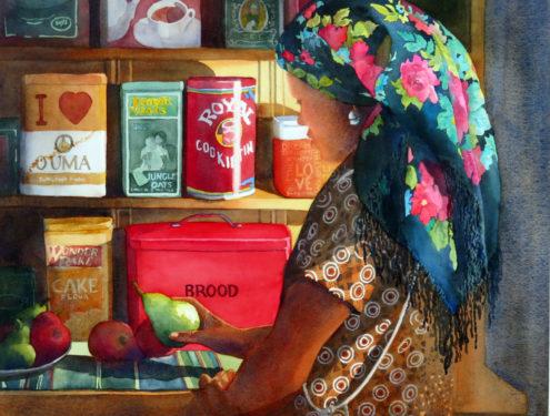 Vermeer's Choice 2020 SANAVA-SA Artist - 51x62 - Watercolour - Framed