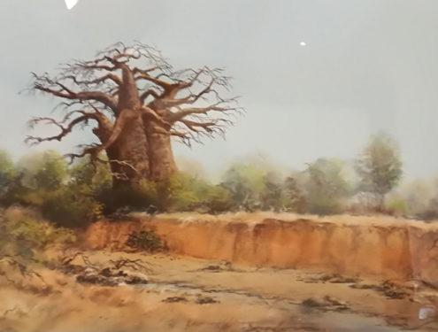 River's Guardian - 56x76 - Pastel - Framed